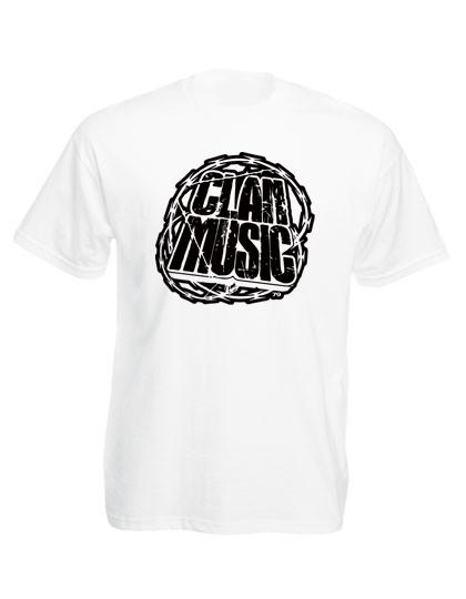 Clan Music Shop Clan Music Logo T Shirt Neu Weiß